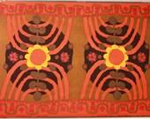 "Vintage Scandinavian fabric by Saini Salonen for Boras ""Parabeli"" Design"