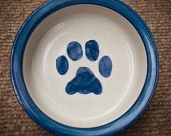 SALE!! Blue Paw Print Bowl in Blue (Extra Large)