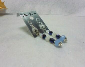 Handmade Blue Earrings Posey Dangle Earrings