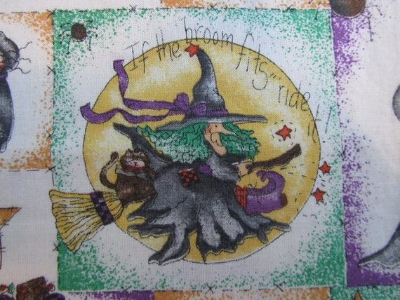 Halloween Fabric Diana Marcum for Marcus Brothers Textiles Inc