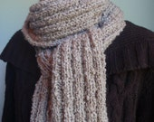 Snow and Sand Knitted Scarf