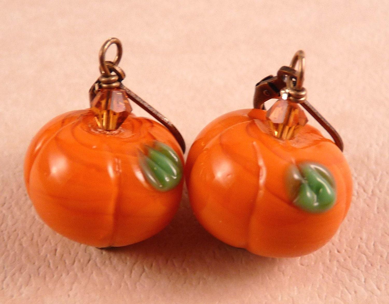 pumpkin earrings fall jewelry jewelry by