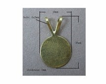 10mm Antique Brass bail Glue or Solder 10mm Pad jewelry supply ( turn flat back cabochons or cameos into pendants ) 368x