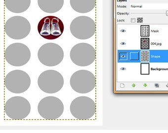 Putting images into a template with Gimp