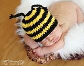 BUMBLEBEE BEE BEANIE Crochet Hat Baby Newborn 0 3 6 12 Months 1T 2T 3T 4T Child Teen Adult