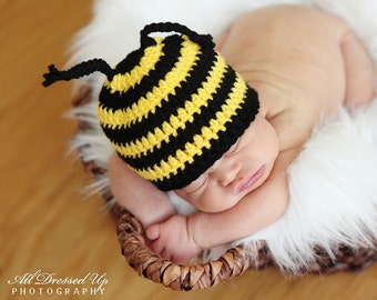 BUMBLEBEE BEE BEANIE Crochet Hat Baby Newborn 0 3 6 12 Months 1T 2T 3T 4T Child Teen Adult