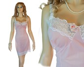 1960s vintage NWT new with tag XXL plus size pink full slip oversized (PL131)