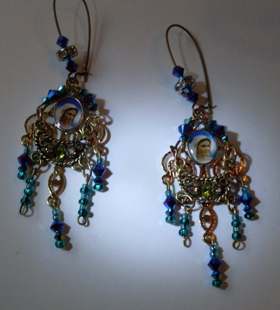 Holy Mary Vatican Collection Chandelier Earrings Rue23paris  We Ship Internationally