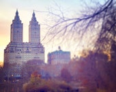 NYC Central Park Dusk Twilight Sunset Fall Romance - Fine art photography - 8x10