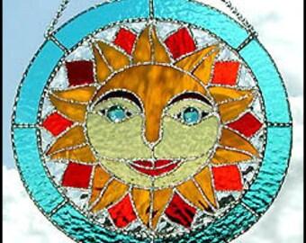 """Stained Glass Suncatcher - Art Glass - Glass Sun Catcher - Sun Design -Stained Glass Art - Stained Glass Sun Catcher - 11"""" - 9750"""
