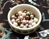 20Pcs CERAMIC Pearl Beads Round Imitation Assorted Luxe Colorful Colors (High Quality)
