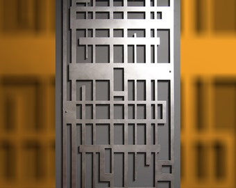 Maze 23 X 46 in Hand-brushed Aluminum Wall Sculpture