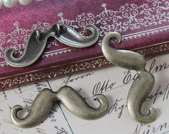 BIG SALE-10pcs Antique Bronze plated brass Charms/Pendants- (Moustache )-(HAB-231)