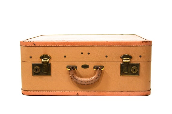 Just Peachy Leather Luggage