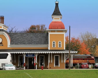 Train Station in North Conroe, New Hampshire