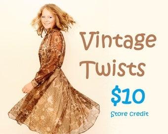 Vintage Twists 10 dollar store credit gift voucher