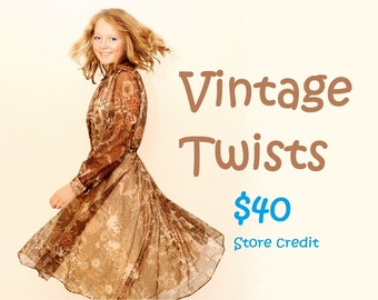 Vintage Twists 40 dollar store credit gift voucher