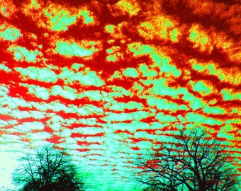 Surrealistic Sky / Expressionism / Orange / Blue / Fine Art Photography