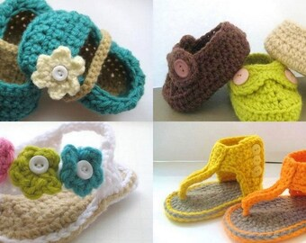 Crochet Pattern Booties, Booties Crochet Pattern, Crochet Booties Pattern, Crochet Baby Booties Pattern, Any 2 Crochet Patterns for  7.99