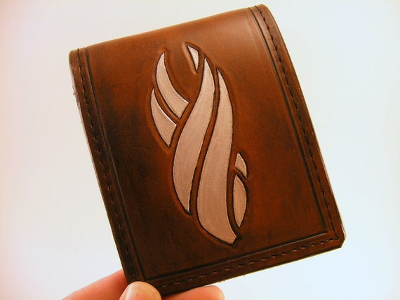 RESERVED ITEM: Dead Space Marker Hand Tooled Wallet