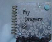 Blue Flowers Prayer Journal - Blessings Journal - Meditation Journal -