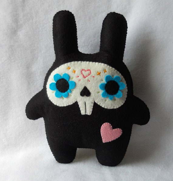 LARGE Skele-bunny Plush by Michelle Coffee