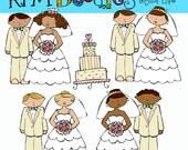 KPM Bride and Groom Digital Clip art clipart