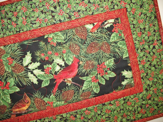 Christmas Table Runner Quilted fabric from Timeless Treasures
