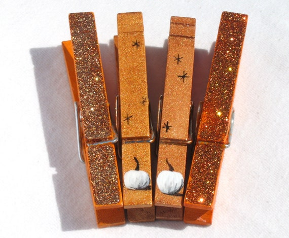 FALL CLOTHESPINS hand painted magnetic pegs