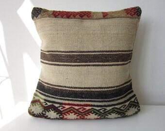 Anatolian Rug Pillow Cover (kilim)