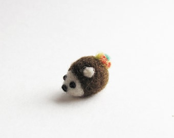 Tiny needle felted hedgehog