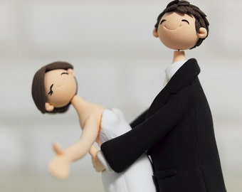 Cute couple wedding cake topper Gift Decoration - Be in the raptures of happiness