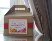 Unique Wedding Welcome Boxes for OOT Hotel Guests - A Pop of Color Design
