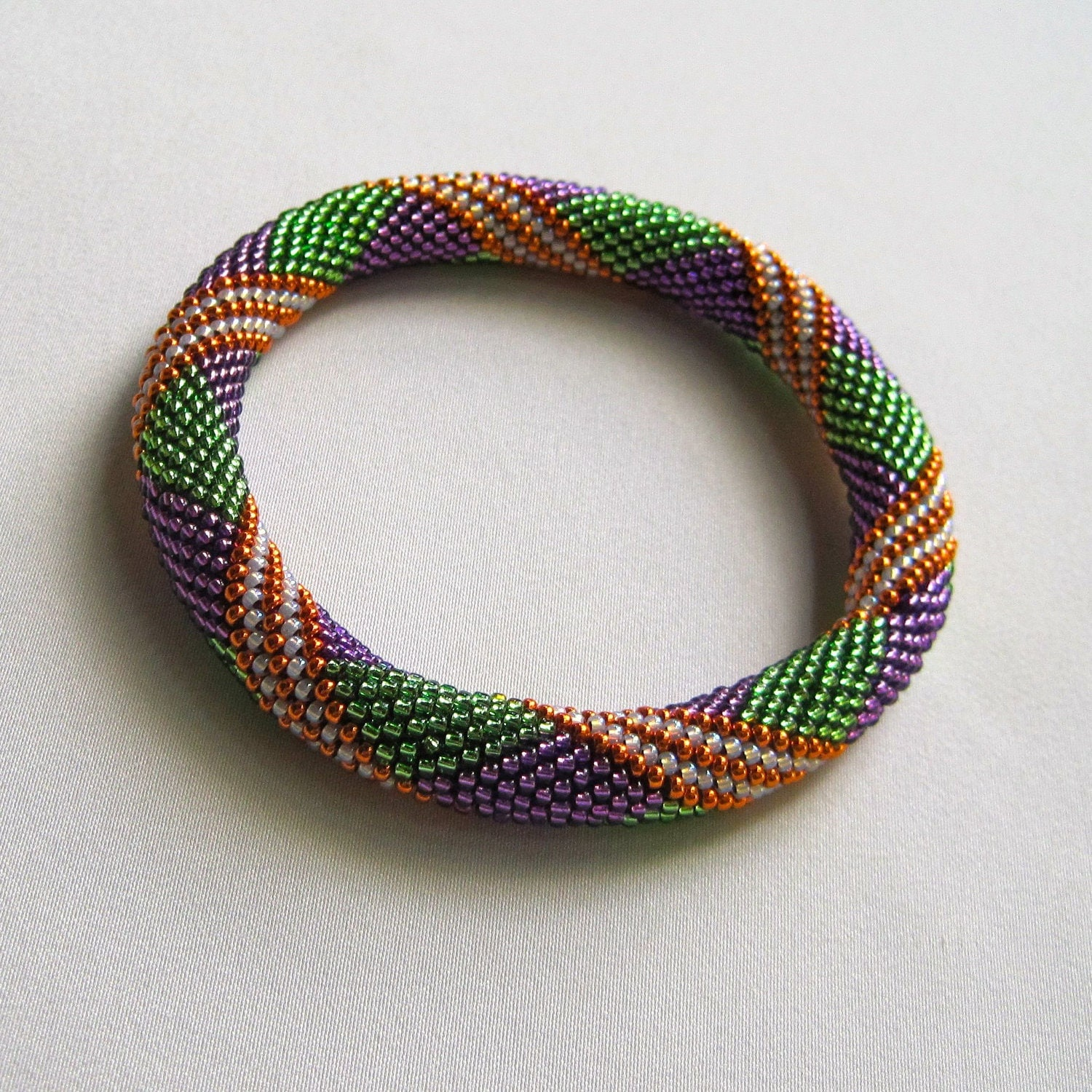 Bead Crochet : Bead Crochet Pattern: Parallelogram Bead by WearableArtEmporium