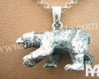 Sterling Silver Polar Bear Pendant