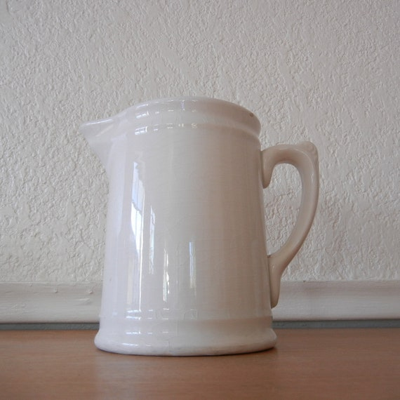 Homer Laughlin Pitcher White Ironstone Early 1900 S
