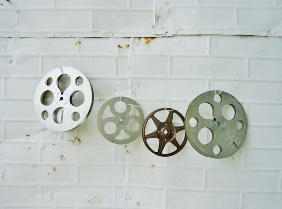 Vintage Film Reels - Movie Reels - Set of 4