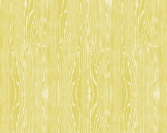 Joel Dewberry - AVIARY2 - Woodgrain in Vintage Yellow JD42 - Free Spirit Fabric - By the Fabric