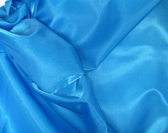 Royal Blue Shimmer Satin  1 Yard  (SM202)