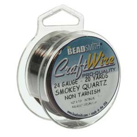 24 gauge smokey quartz craft wire pro quality 60 feet for 24 gauge craft wire