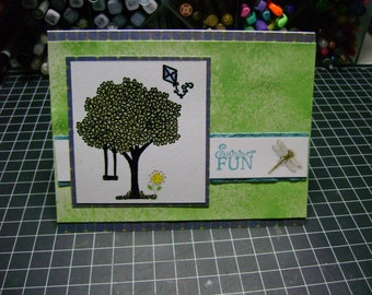 Summer Fun Card and Envelope