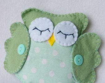 Paul the Green Handmade Owl