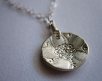 Tiny Jasmine Sterling Silver Necklace