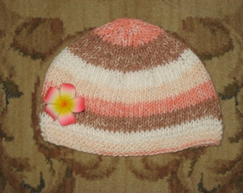 Youth Hat with flower clip