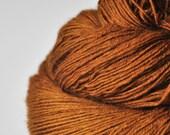 Lost leather pouch OOAK  - BFL Sock Yarn superwash