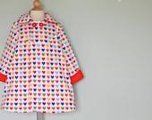 Rainbow Heart Jacket Pea Coat:  Custom Made Size 12 months to 6 years