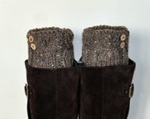 BOOT CUFFS Socks Button Leg Warmers Choose COLOR Barley Brown Cozy Earth Neutral Forest Nature Knit Gift under 50