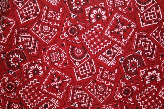 Red Bandana Print Welding hat cap liner
