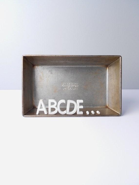 Large Porcelain Ceramic White Alphabet  Letter Tacks--Letters A thru Z.