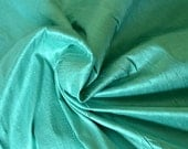 Silk Dupioni in Sea green, Extra wide 54 inches, Half yard - DEX 194